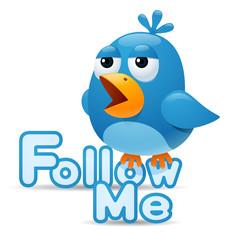 Twitter bird - Follow Me
