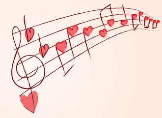 romantic musical notes