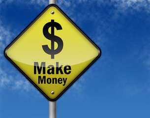 Glossy 3d Style Sign Make Money Dollar Sign Buy This Stock