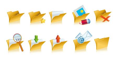 Set of folders icons