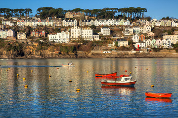 Fowey on the Cornwall coast of England