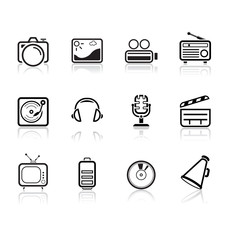 Media and music icons | Simple series