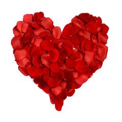 Fototapeta Serce z płatków róż obraz