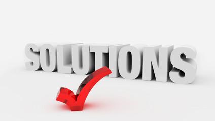 3d Solutions check big positive symbol – business