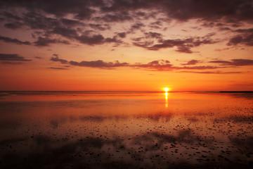 Sonnenuntergang im Nationalpark Wattenmeer