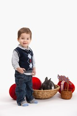Little boy with Easter decoration