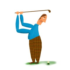 golfista cuadros