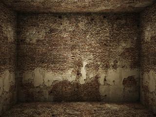 grungy interior brick room