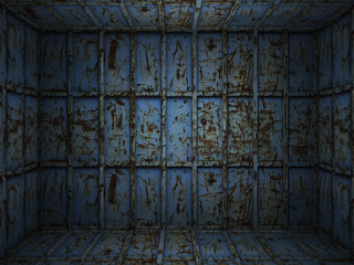 interior metal rusty room