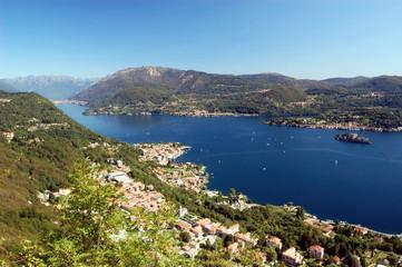 Panoramic View on Orta Lake