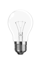 Vector tungsten light bulb
