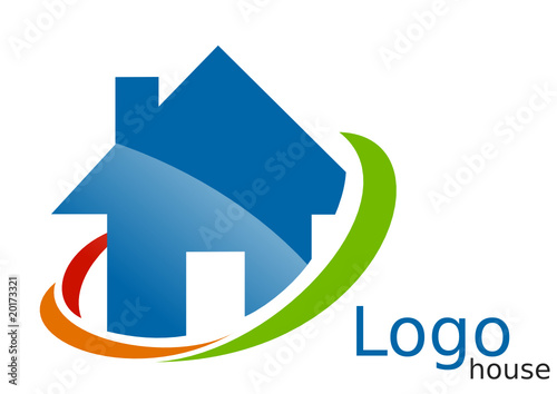 logo maison arcs bleu vert orange rouge fichier vectoriel libre de droits sur la banque d. Black Bedroom Furniture Sets. Home Design Ideas