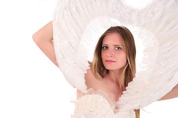 woman wtih wings
