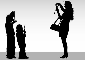 Photographer and children