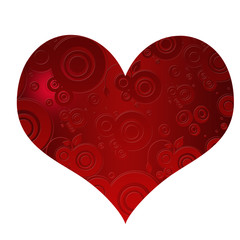 red heart with shapes inside
