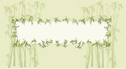 green bamboo vector frame