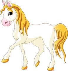 In de dag Pony White horse