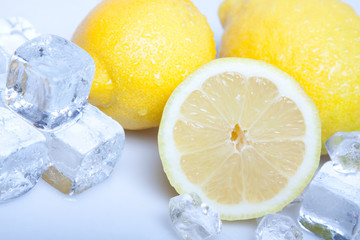 Foto op Canvas In het ijs Frozzy lemons!