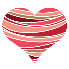 Heart shape with lines