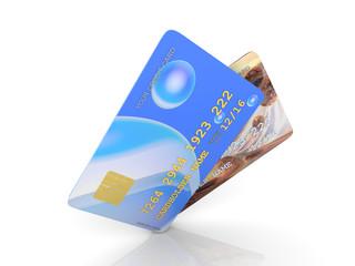 Zwei Kredit Karten