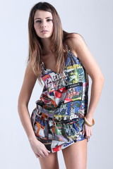 jeune femme robe mode