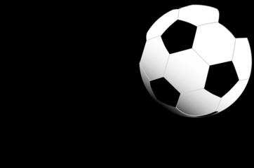 football ball on black background illustration