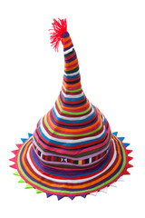 Colour hat from strips fabrics