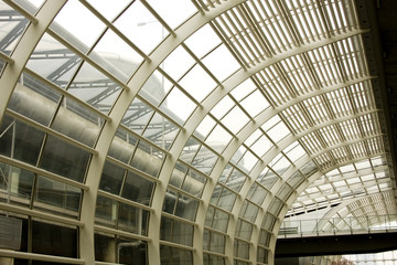 Foto op Plexiglas Milan Steel roof structure in the hongkong airport, hongkong, China