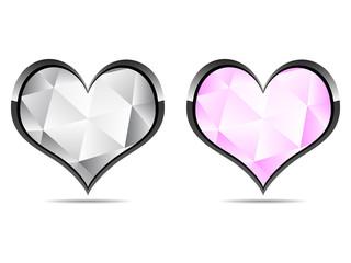 dimond hearts