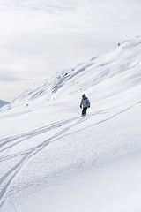 Enfant au ski, Areches, Savoie, Beaufortain, France
