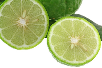 citron vert, fond blanc
