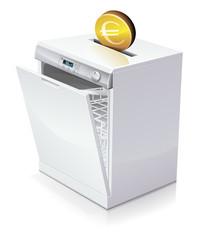 Investir en euros dans un lave-vaisselle (reflet)