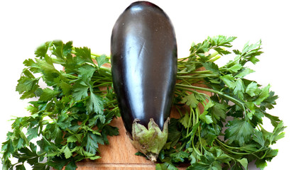 aubergine and parsley