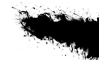 black ink stains