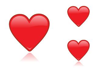 corazones glossy