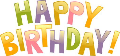happy birthday graffiti text