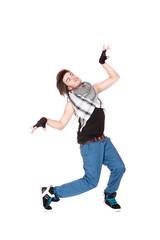 hip-hop style dancer posing