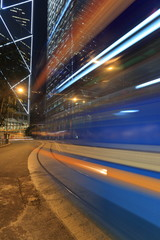 a speed tram blur