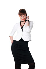 charming brunette business woman