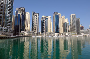 Highrise Modern Buildings at Dubai Marina