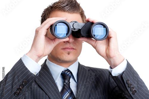 U0026quot Eleganter Mann Sieht Durch Fernglas U0026quot Stockfotos Und