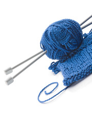 Wool and wooden needles