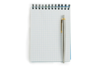 spiral lined notebook isolated on white