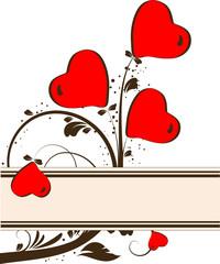 St. Valentine's Day banner.