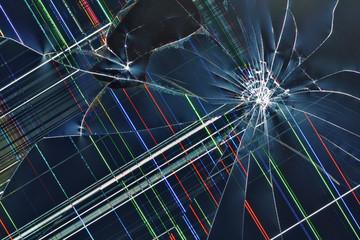 Cracked broken display  background
