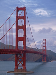 Golden Gate Bridge in Cloudy Day