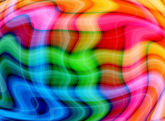 Abstract Multicolor Waves Background
