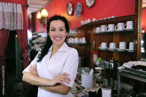 """proud and confident owner of a cafe/ pastry shop"" Stock ..."