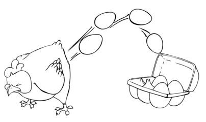 Huhn, Ei, Eier, Ostern, Ostereier, Eierkarton, Legebatterie