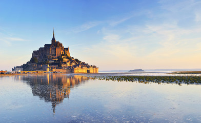 Dawn at Mont Saint Michel. France